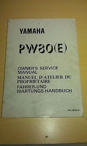 YAMAHA PW 80 (E) SERVICE MANUAL WARTUNGS HANDBUCH MOTORDATEN 3RV-28199-82