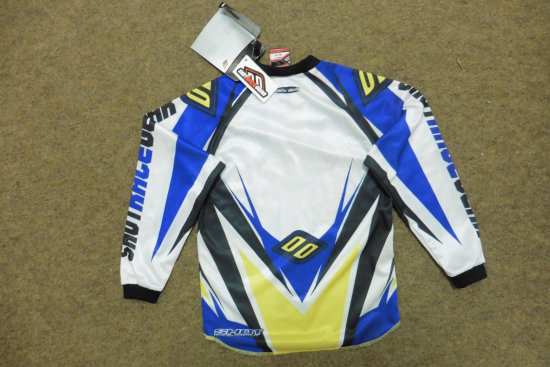 SHOT RACE GEAR TRIKOT FAHRERHEMD HEMD MOTOCROSS MX CROSS YAMAHA GR. 6 7.